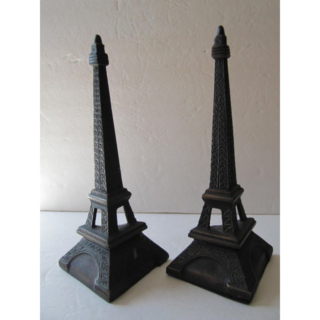 Eiffel Tower Bookends For Sale - Image 6 of 6