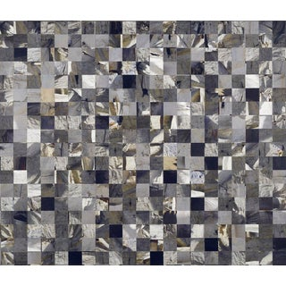 """Marks Framed Collage """"Impermanence"""", Contemporary Large Gray Abstract For Sale"""
