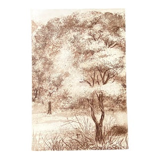 "Vintage ""Serenity"" 23/250 Aquatint Print by Barbara Domroe For Sale"