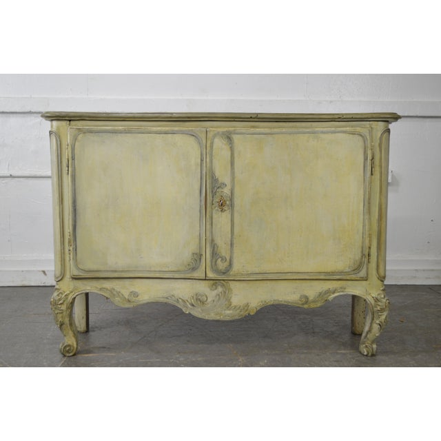 STORE ITEM #: 15553-fw Antique 18th Century French Louis XV Style Painted 2 Door Console Server AGE/COUNTRY OF ORIGIN –...