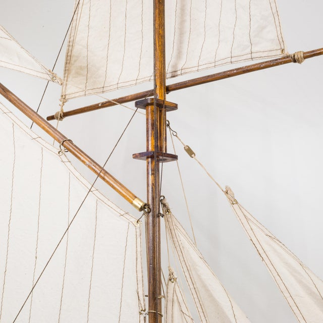 Early 20th C. Monumental Ship Model C. 1940 For Sale - Image 10 of 12