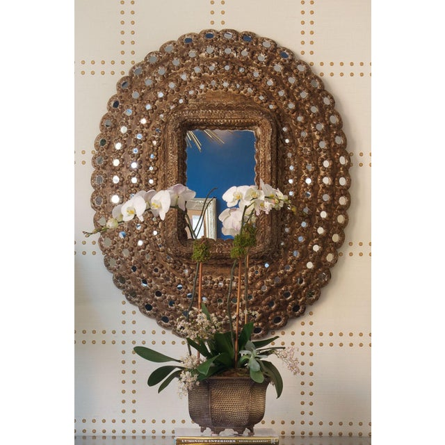 Islamic Moroccan Studded Wall Mirror For Sale - Image 3 of 4