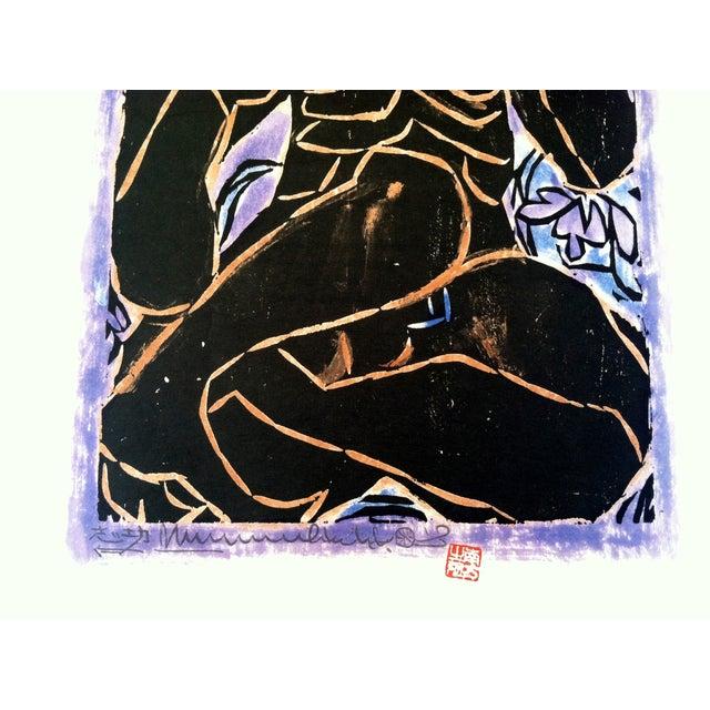 Mid-Century Japanese Woodblock Print 1 - Image 4 of 5