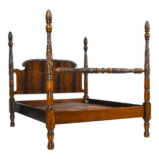 Traditional Mahogany Queen Size Poster Bedframe For Sale