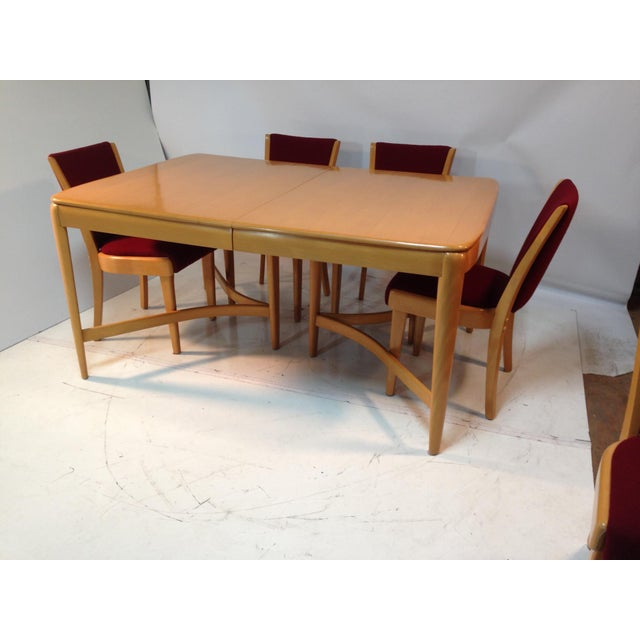 Red 1940s Vintage Heywood Wakefield Dining Set For Sale - Image 8 of 8