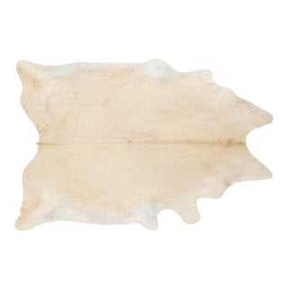 White Champagne Genuine Brazilian Cowhide