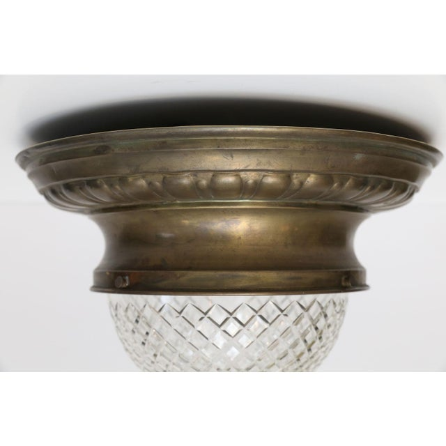 French Repousse Flush Mount Light For Sale - Image 3 of 11