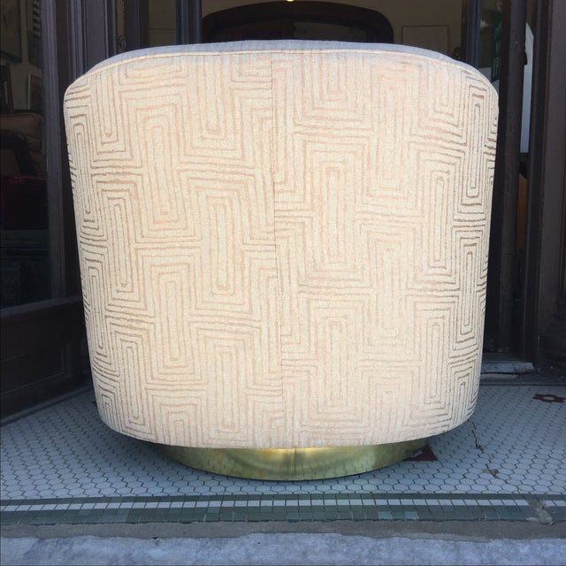 Blush Pink Mid-Century Swivel Chairs - A Pair - Image 6 of 6