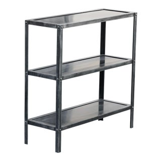 Custom Steel Three Tier Shelf by Rehab Vintage Interiors, Available Now and Made to Order For Sale
