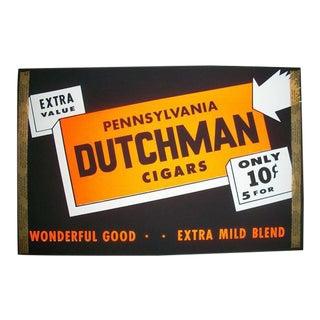 Vintage Pennsylvania Dutchman Cigar Window Display, Unused, 1950s