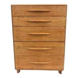 Heywood Wakefield Highboy Dresser in Champagne Finish For Sale
