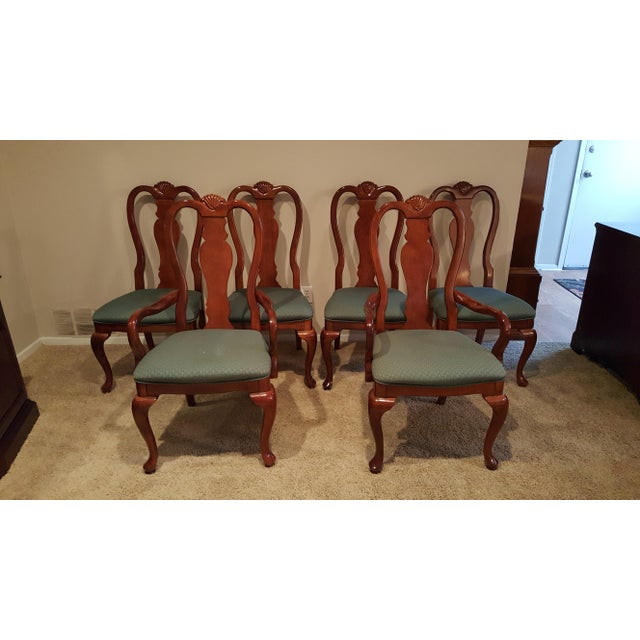 Queen Anne Dining Chairs - Set of 6 - Image 2 of 5