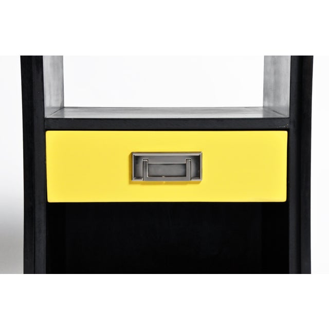 Black Gtc2 Pair of Campaign Bedside Chests by the Golden Triangle Chicago For Sale - Image 8 of 13