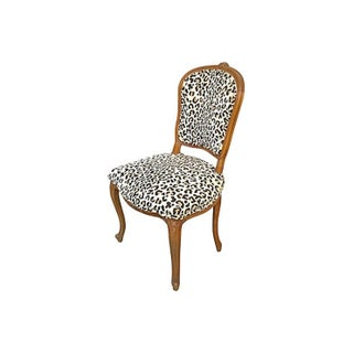 1900s Antique Leopard Upholstered Side Chair Preview