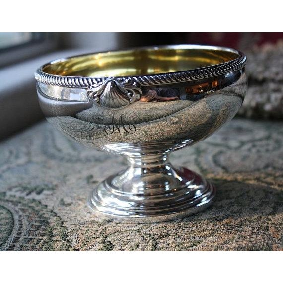 International Silver Co Gold Washed Waste Bowl - Image 2 of 5