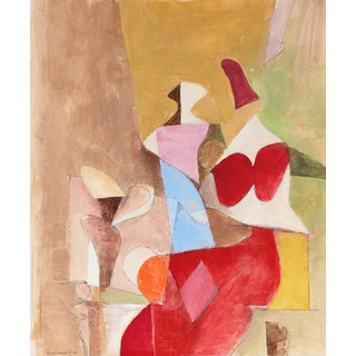 Abstracted Figures by G. Wasserman For Sale
