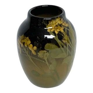 Rookwood Iris Glaze Floral Motif Vase, by Grace Young, 1901 For Sale