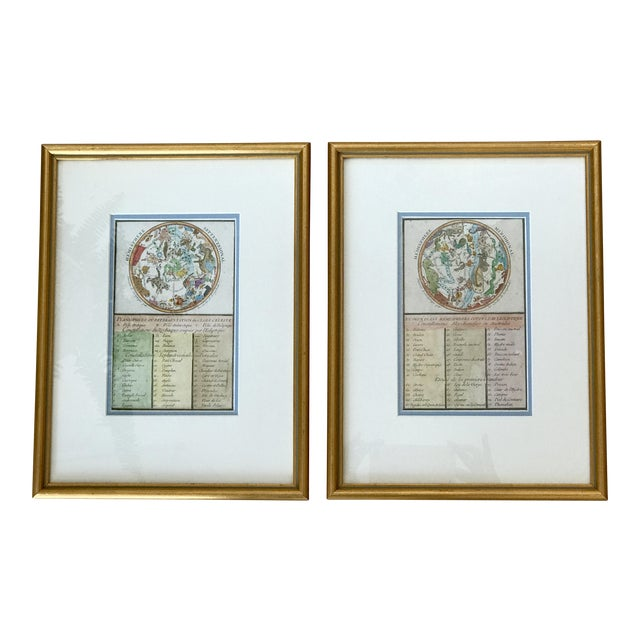 1785 French Constellation Engravings - A Pair For Sale