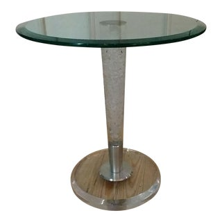 Haziza H. Studio Glass & Acrylic Accent Table