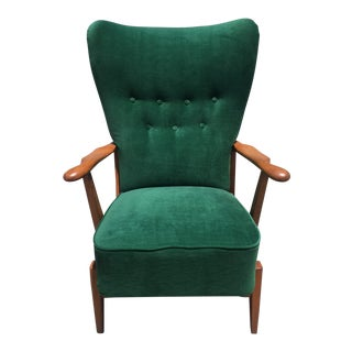 1940s Dux Emerald High Back Chair For Sale