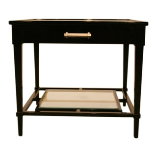 Ferrell Lewis Mittman High Gloss Black Lacquer End Table For Sale