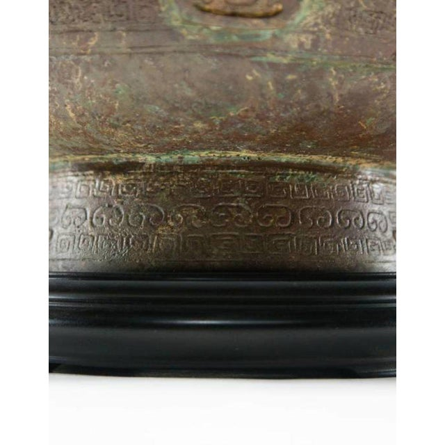 2010s Lawrence & Scott Patinated Vessel on Stand For Sale - Image 5 of 10