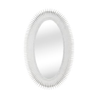 Lucius Mirror in White For Sale