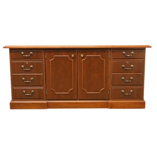 20th Century Traditional Miller Desk Solid Cherry Executive Office Credenza For Sale