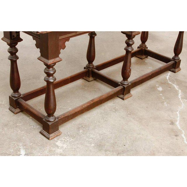19th Century English Walnut Refectory or Console Table For Sale - Image 12 of 13