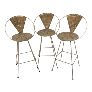 1960sVintage Arthur Umanoff by Shaver Howard Bar Stools- Set of 3 For Sale