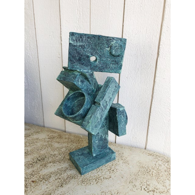 """Abstract Cubist Sculpture """"Dancer"""" by Bill Low For Sale - Image 4 of 13"""