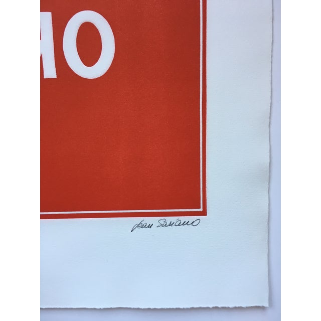 Contemporary 1970s Pop Art Text Print Signed by Jean Sariano For Sale - Image 3 of 11