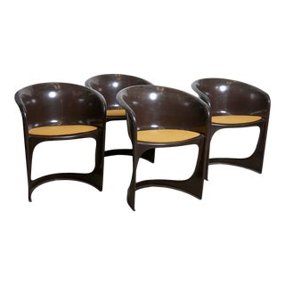 1974 Brown Glossy Cado Chairs, Steen Østergaard, 1974 - Set of 4 For Sale