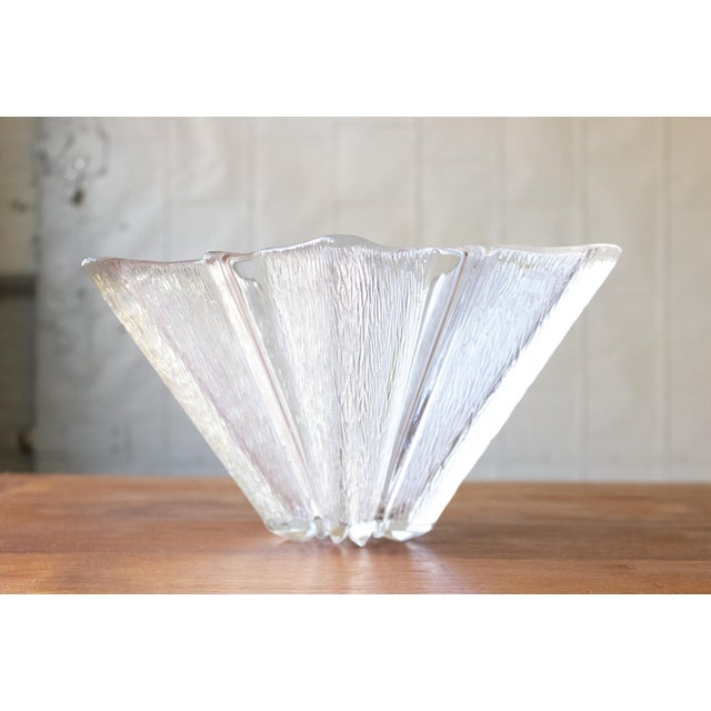 French Starburst Glass Bowl For Sale - Image 4 of 5