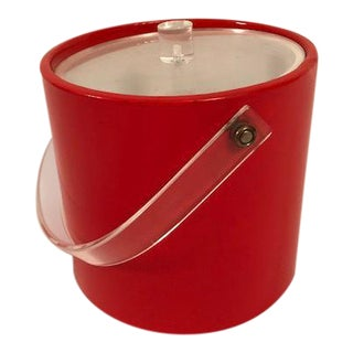 Mid-Century Orange Ice Bucket