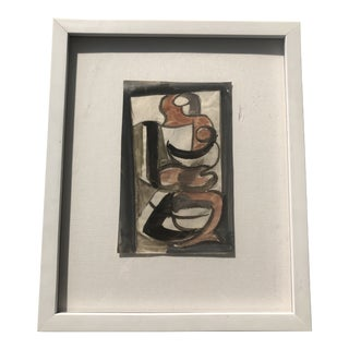 1960s Vintage Georges Maurice Cloud Abstraction Painting For Sale