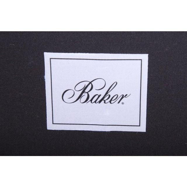Baker Furniture Mahogany and Velvet Window Bench For Sale - Image 11 of 12