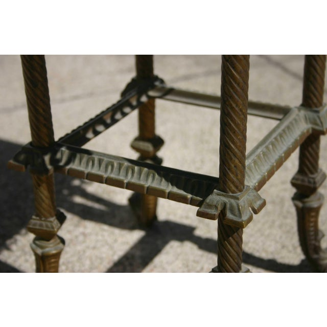 Antique Onyx & Iron Side Table For Sale - Image 4 of 5