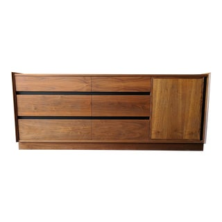 Unique Mid Century Refinished Walnut Dresser by Dillingham