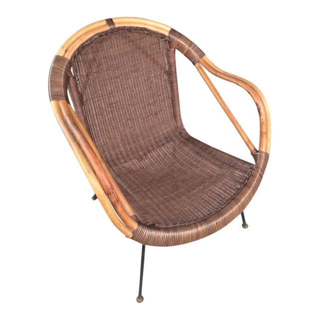 Mid-Century Rattan Chair - Image 1 of 6