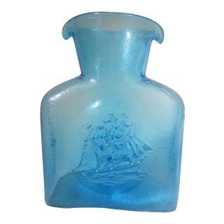 Vintage Nautical Blue Decanter For Sale