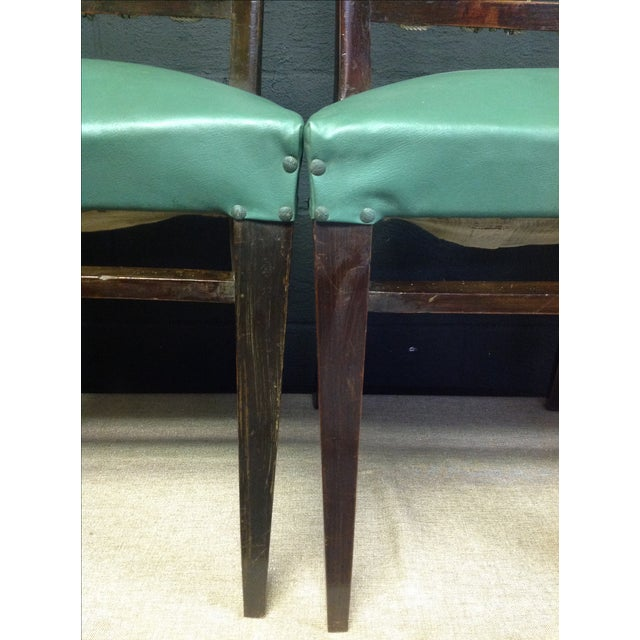 Mid-Century Italian Rope Back Dining Chairs - Set of 6 - Image 9 of 11