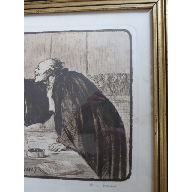 Signed Honore Daumier Caricatures - Set of 3 - Image 5 of 11