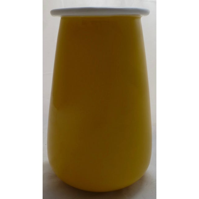 Sunshine Yellow Italian Pottery Vase For Sale - Image 9 of 11