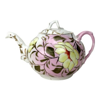 Rs Prussia Pink Floral Teapot For Sale