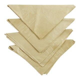 Antique Linen Damask Napkins - Set of 4 For Sale