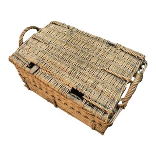 Antique French Picnic Basket