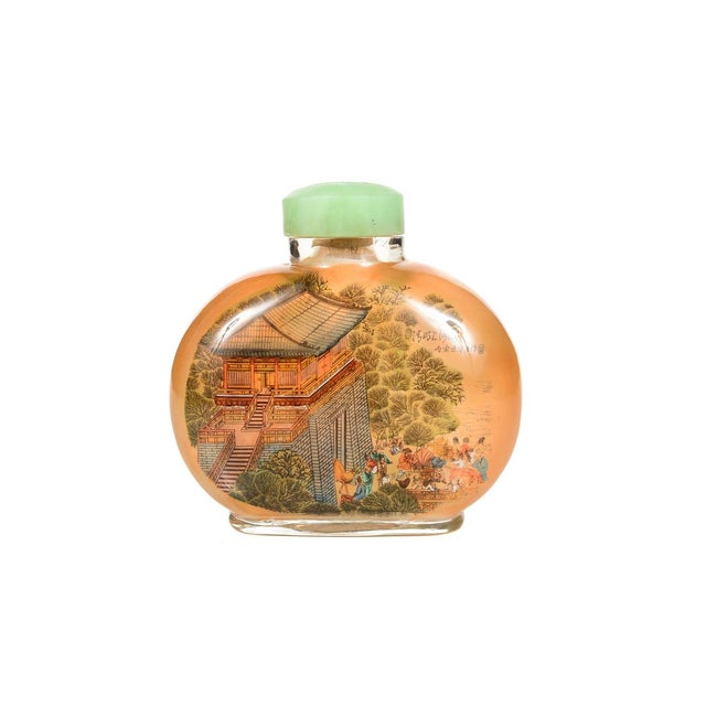 Glass Chinese Reverse-Painted Snuff Bottle For Sale - Image 7 of 9