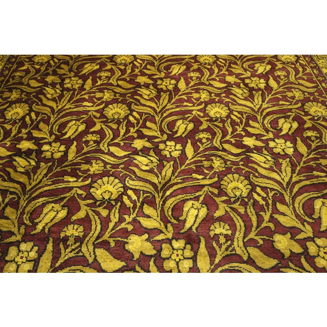 """Suzani Collection Oushak Floral Rug - 6'2"""" x 8'10"""" - Image 7 of 10"""