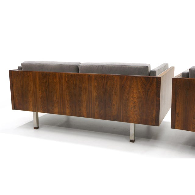1960s Pair of Case Settees or Loveseats and Chair in Rosewood by Jydsk Møbelværk For Sale - Image 5 of 11